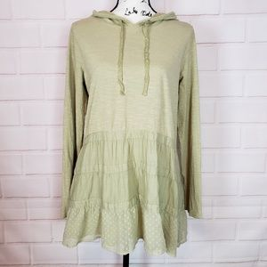 Logo by Lori Goldstein Green Hoodie Tunic Size M